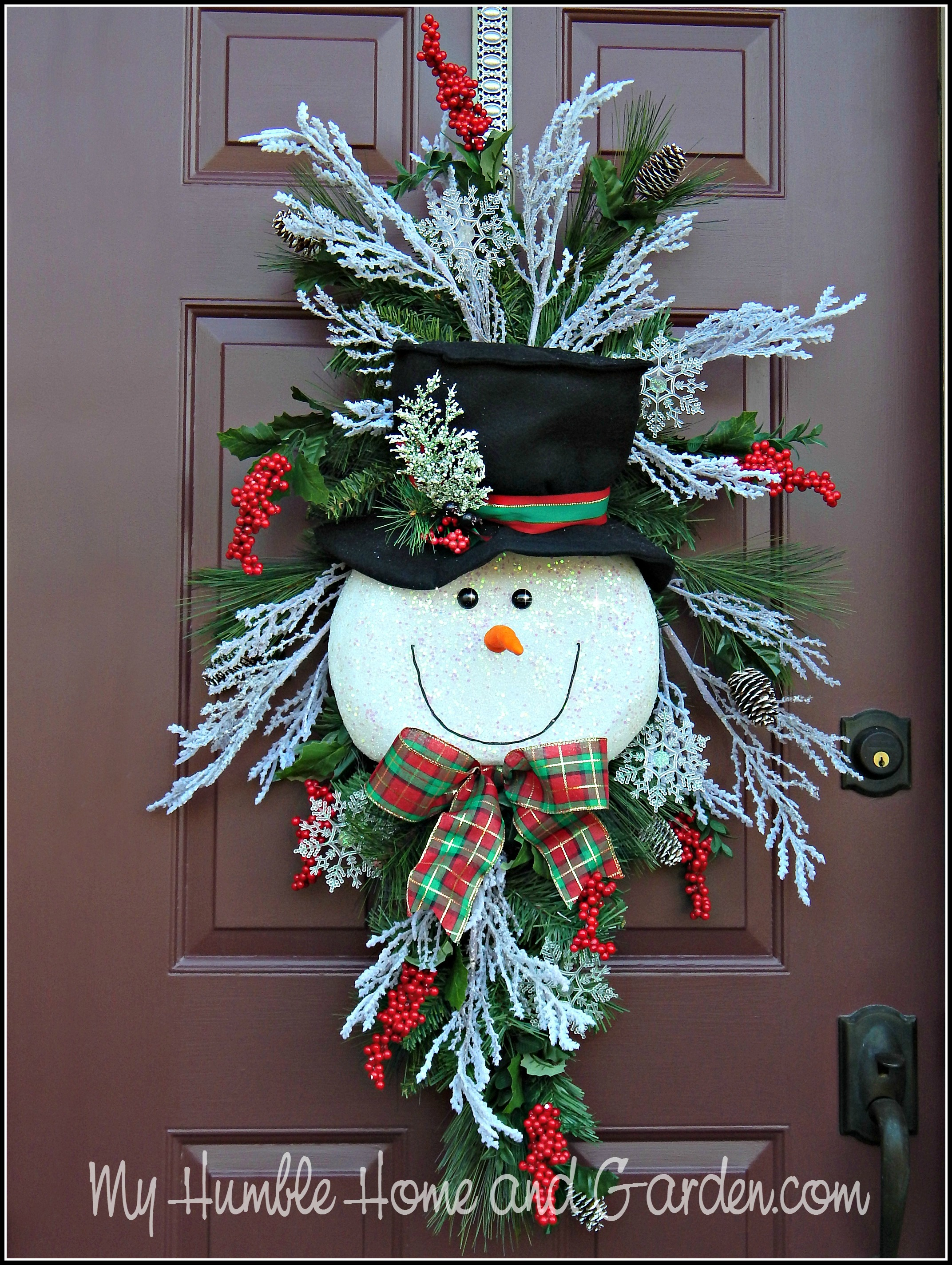 Tips And How To Create A Magical Snowman Wreath My