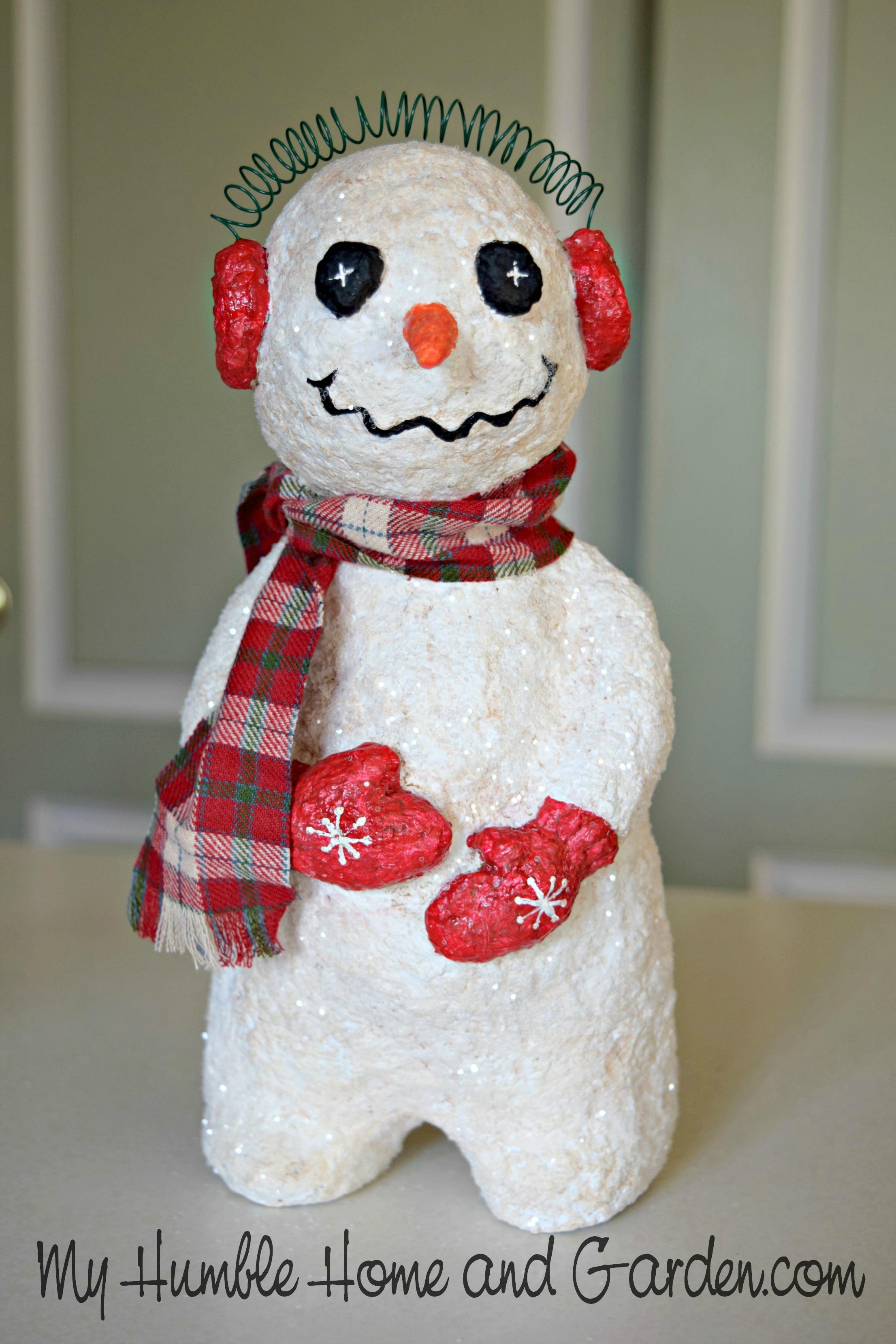 How To Make A Papier M 226 Ch 233 Snowman Part 2 My Humble